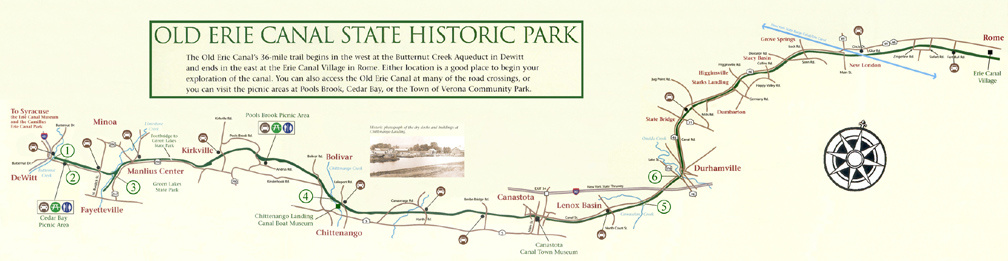 Map of the Old Erie Canal State Historic Park