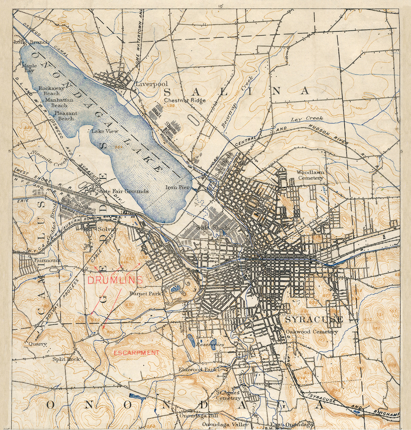 Map Of Old New York.Erie Canal Maps