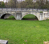 The eastern two towpath arches of the aqueduct