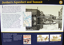 Interpretive sign at the Jordan Aqueduct