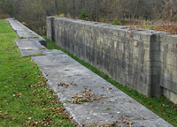 Erie Canal Lock No. 51 - The south chamber, looking west