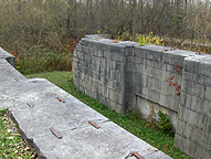 Erie Canal Lock No. 51 - The west end of the south chamber, looking northwest