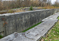 Erie Canal Lock No. 51 - The west end of the lock, looking northeast