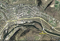 Google Earth view of Little Falls, N.Y.