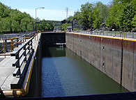 Erie Canal Lock E-17 -- The lock chamber, looking west