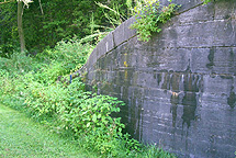 Erie Canal Lock No. 36 -- South wall of the south chamber