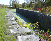 Erie Canal Lock No. 56 at Lyons: north chamber, looking east
