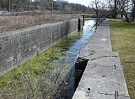 Erie Canal Lock No. 56 at Lyons - south chamber, looking east