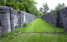 North chamber, Lock No. 60, looking east