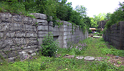 Erie Canal Lock No. 58 - North chamber, west end, looking east