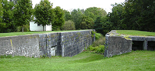 Erie Canal Lock No. 59 at Newark - north chamber