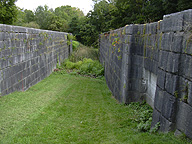 Erie Canal Lock No. 59 at Newark - inside the north chamber