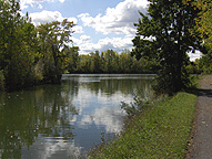 Widewaters on the Enlarged Erie Canal towpath