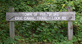 Sign at Erie Canal Lock No. 62 at Pittsford