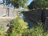 North chamber of Lock No. 28, looking east