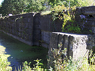 South wall of the north chamber of  Lock No. 28