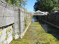South chamber of Lock No. 28, looking east