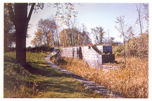 Enlarged Erie Canal Empire Lock 29, Fort Hunter, N.Y., 1955