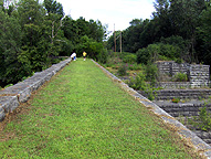 The Seneca River Aqueduct, looking east along the towpath