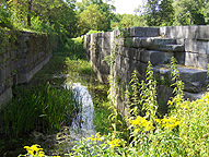 Erie Canal Lock 33, south chamber, looking west