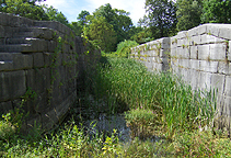 Erie Canal Lock 33, north chamber, looking west