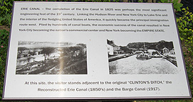 Interpretive sign at Erie Canal Lock 33