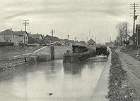 Enlarged Erie Canal Lock No. 66, looking west